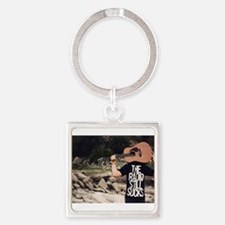 Cool Hipster teen Square Keychain