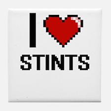 I love Stints Digital Design Tile Coaster
