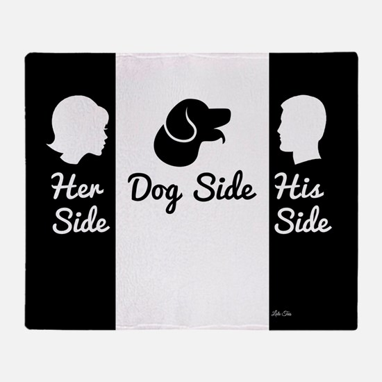 Cute Her side his side Throw Blanket