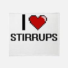 I love Stirrups Digital Design Throw Blanket