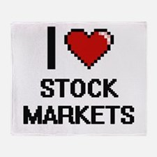 I love Stock Markets Digital Design Throw Blanket