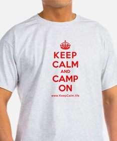 Unique Keep calm and camp on T-Shirt