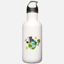 Urban Girl Vector Illu Water Bottle