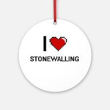 I love Stonewalling Digital Design Round Ornament
