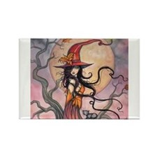 Funny Halloween witch Rectangle Magnet