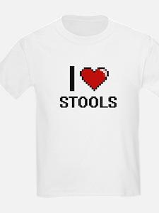 I love Stools Digital Design T-Shirt
