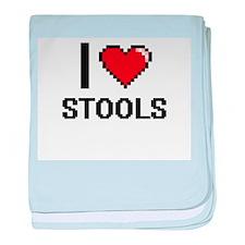 I love Stools Digital Design baby blanket