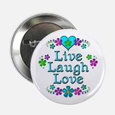 "Live Laugh Love 2.25"" Button"