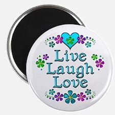 "Live Laugh Love 2.25"" Magnet (100 pack)"