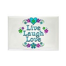 Live Laugh Love Rectangle Magnet (10 pack)