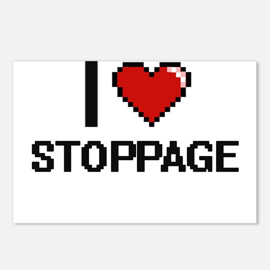 I love Stoppage Digital D Postcards (Package of 8)