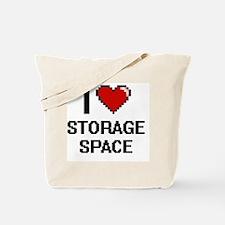 I love Storage Space Digital Design Tote Bag