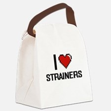 I love Strainers Digital Design Canvas Lunch Bag