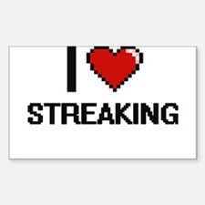 I love Streaking Digital Design Decal