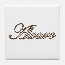 Gold Alvaro Tile Coaster