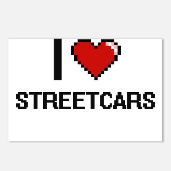I love Streetcars Digital Postcards (Package of 8)