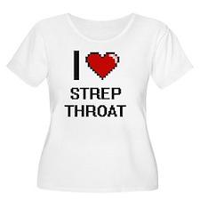 I love Strep Throat Digital Desi Plus Size T-Shirt