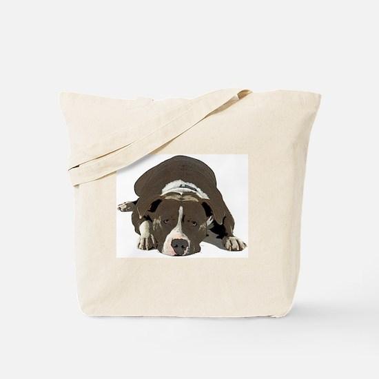 Cute Pit bull terrier Tote Bag