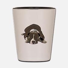 Cute American pit bull terrier Shot Glass