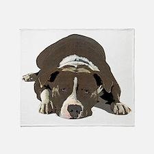 Cute American pit bull Throw Blanket
