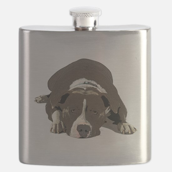 Unique American staffordshire terrier Flask