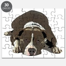 Cute American pit bull terrier Puzzle