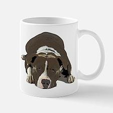 Sleepy Pit Bull Mugs