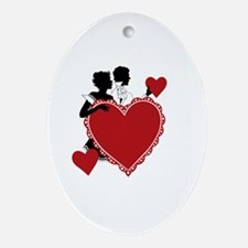 Love and Romance Oval Ornament