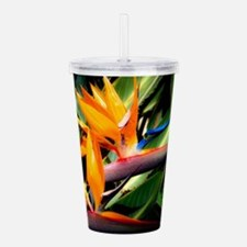 Bird of Paradise Flowe Acrylic Double-wall Tumbler