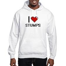 I love Stumps Digital Design Hoodie Sweatshirt