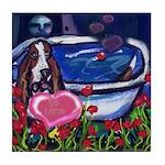 Basset Hound Valentine Tile Coaster