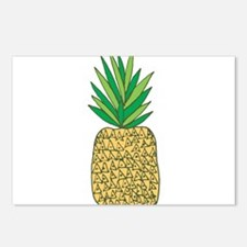 Pineapple Fruit Illustration Postcards (Package of