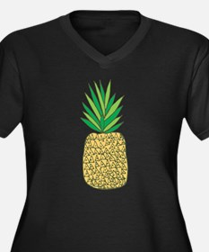 Pineapple Fruit Illustration Plus Size T-Shirt