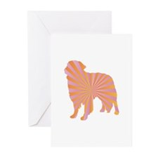 Toller Rays Greeting Cards (Pk of 10)