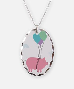 When Pigs Can Fly Illustration Necklace