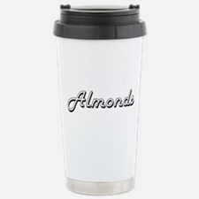 Almonds Classic Retro D Stainless Steel Travel Mug