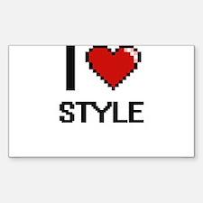 I love Style Digital Design Decal