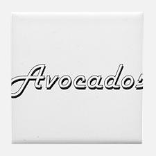 Avocados Classic Retro Design Tile Coaster