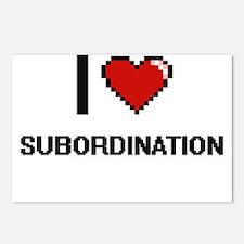 I love Subordination Digi Postcards (Package of 8)