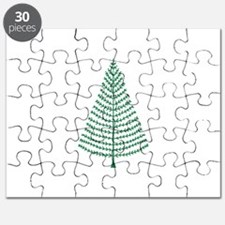 Cute Green Woodland Christmas Tree Puzzle