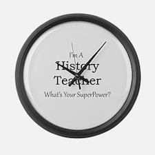 History Teacher Large Wall Clock
