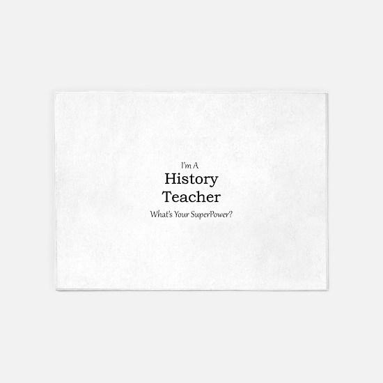 History Teacher 5'x7'Area Rug