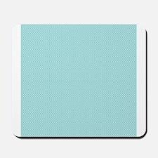 Modern Chic Aqua Blue White Tiny Polka Dots Mousep