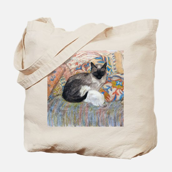 Cuddly Cat and Kitten Tote Bag