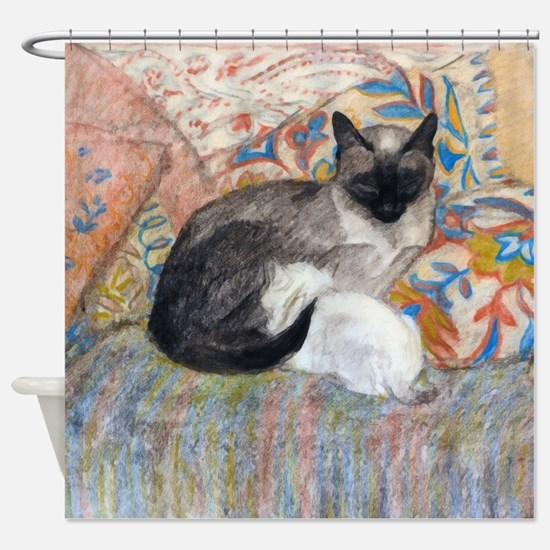 Cuddly Cat and Kitten Shower Curtain