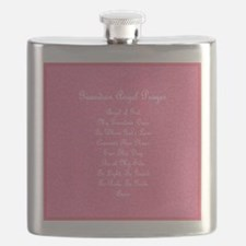 Guardian Angel Prayer Pink Flask