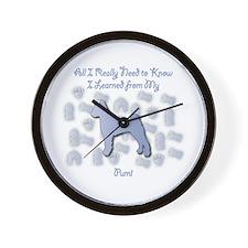 Learned Pumi Wall Clock
