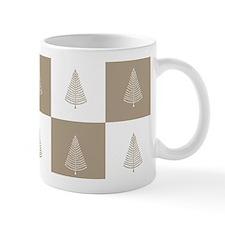Rustic Beige Christmas Tree Woodland Pa Mug
