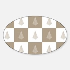 Rustic Beige Christmas Tree Woodlan Decal