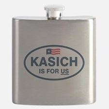 Kasich Is For US Flask